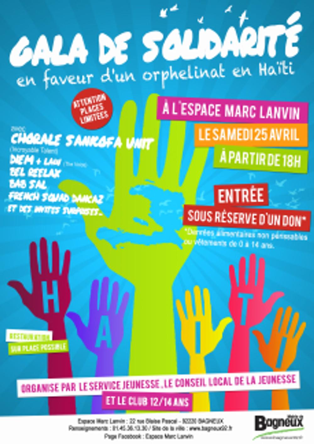 Affiche PROJET HAITI-Bagneux