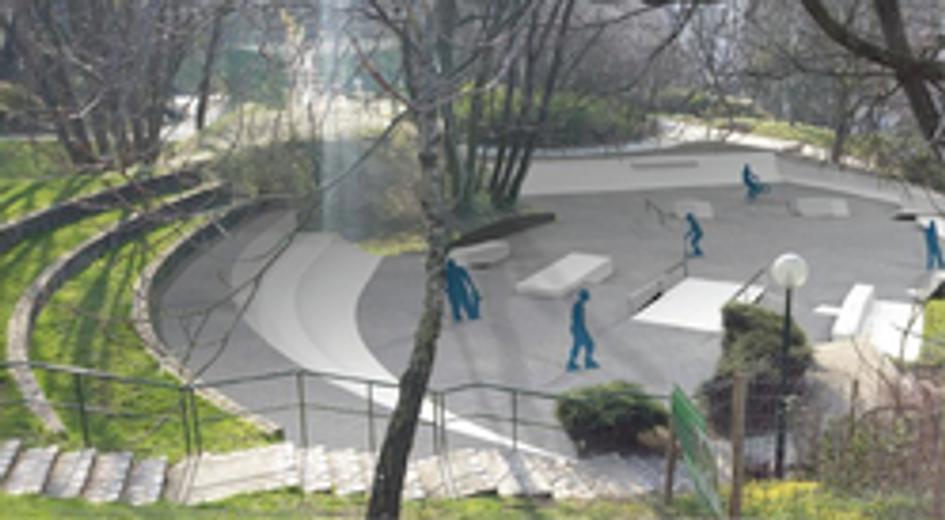 Le Skate Park flambant neuf !©Ville d'Issy-les-Moulineaux