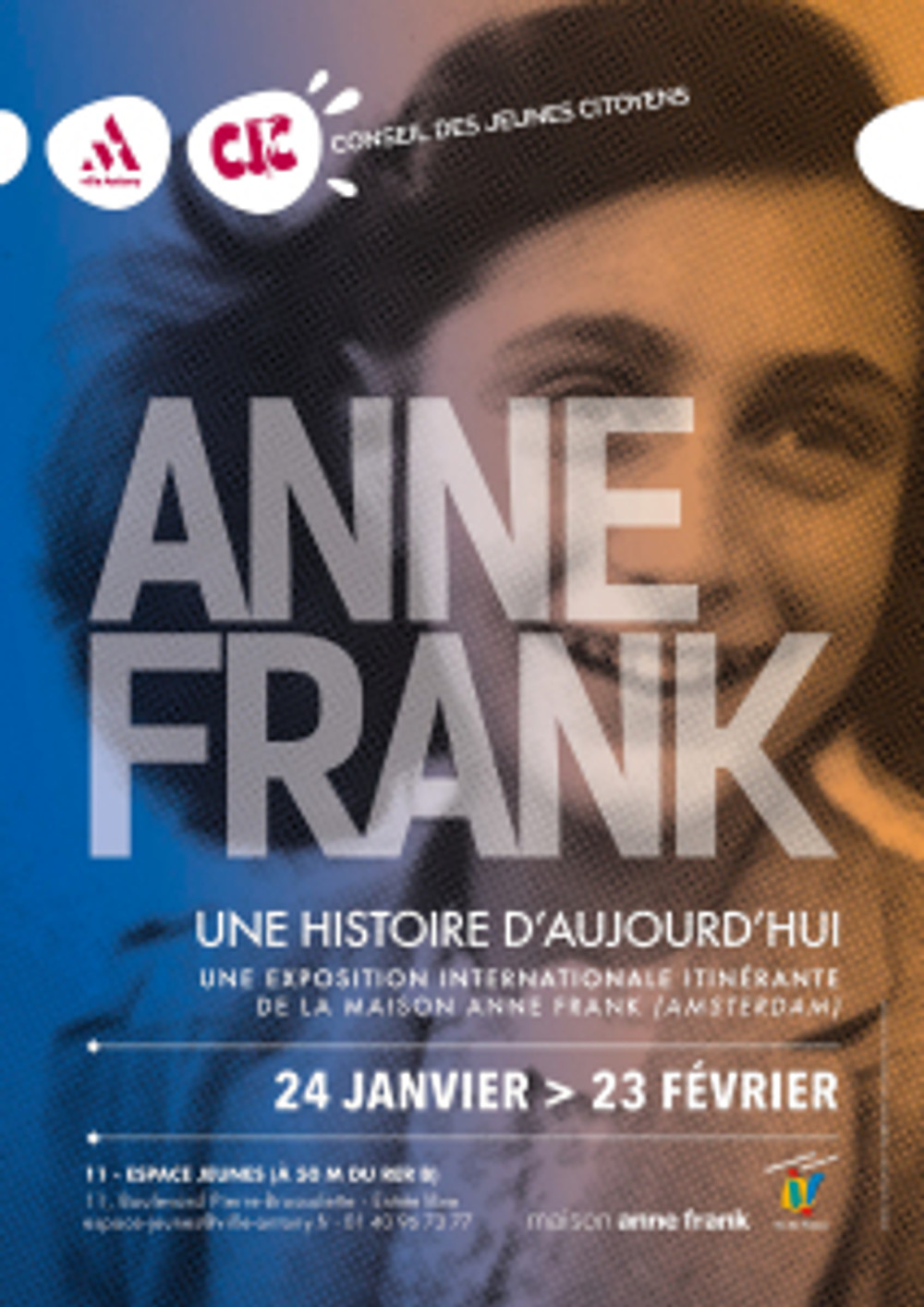Affiche EXPO ANNE FRANK BD