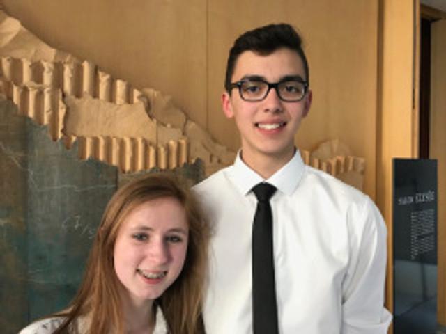Elisa et Théo, 16 ans, du CTJ de Saint Pierre et Miquelon