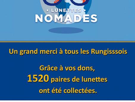Lunettes nomades, opération solidaire des conseils d'enfants et de jeunes de Rungis