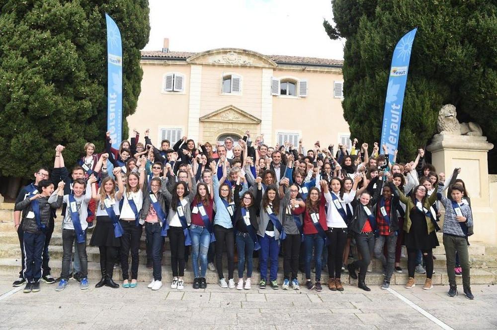 Les membres du 8ème mandat du CDJ de l'Hérault, mercredi 30 mars 2016 ©Christophe Cambon – Département de l'Hérault 2016