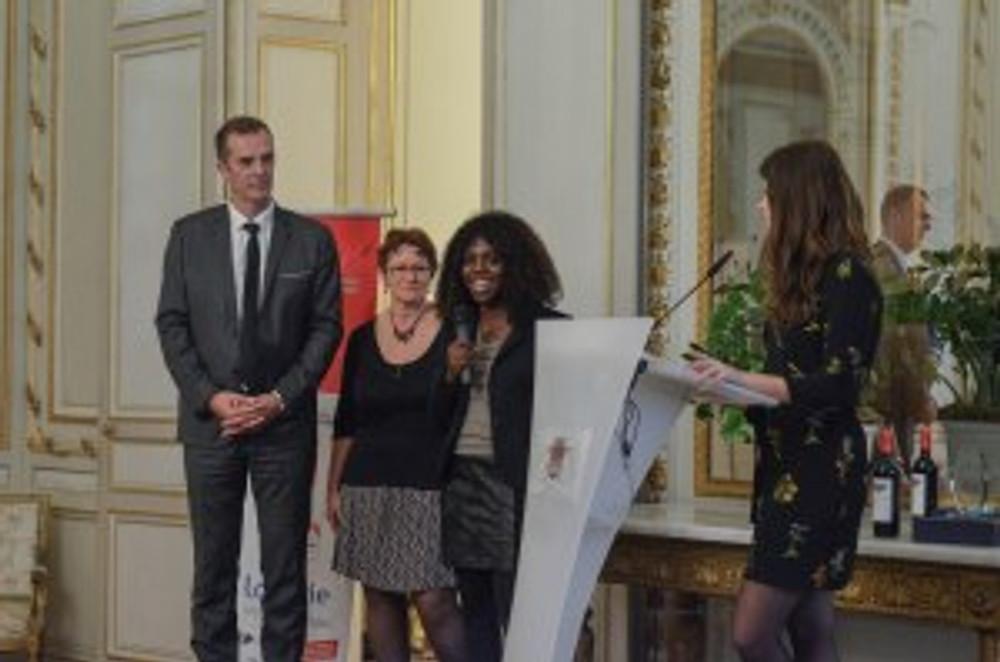 Les représentants de l'EPN du Royans, lauréats de la 4ème édition de La Palme