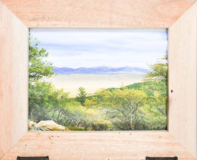 Rustic Nature Art Wilderness Landscape Front View