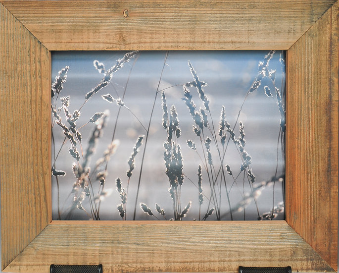 Rustic Nature Art Abstract Golden Grasses Front View