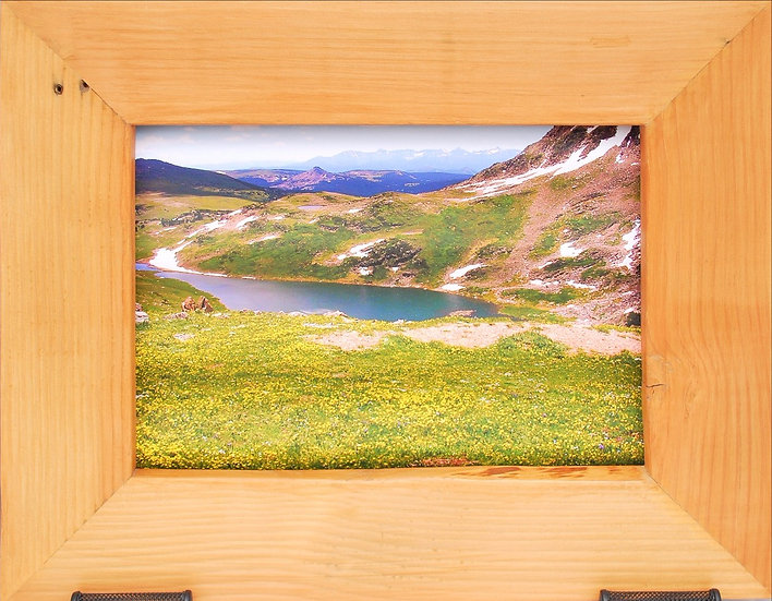 Rustic Nature Art Yellowstone Landscape Front View