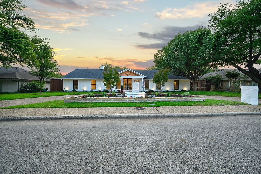 A beautiful exterior shot of a residential home in Dallas, Texas