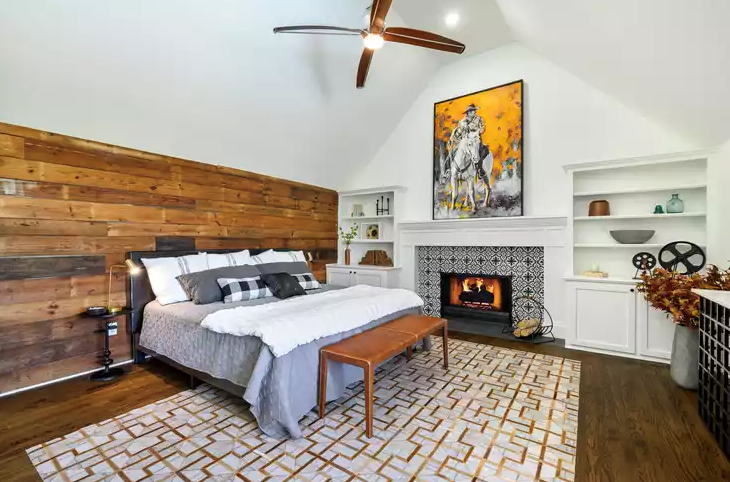Real estate photography of a modern room.