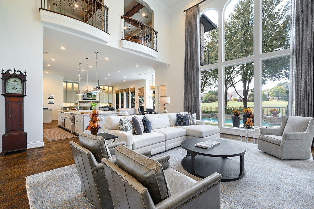 Professional real estate photograph of the interior of a home for sale