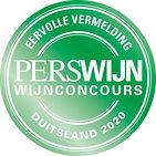 Perswijn - Wijnconcours Duitsland 2020 -