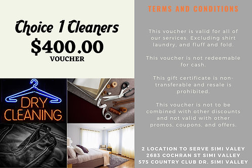 $400.00 Voucher for $280.00 Limited offer