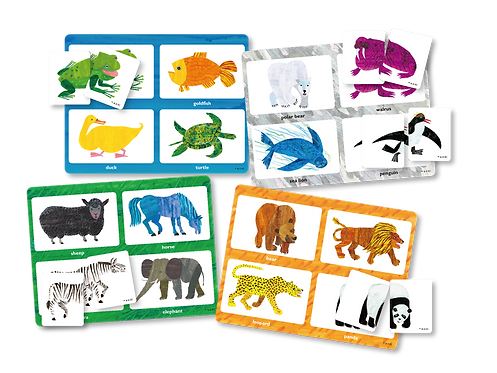 Eric Carle Matching Game - head & tails