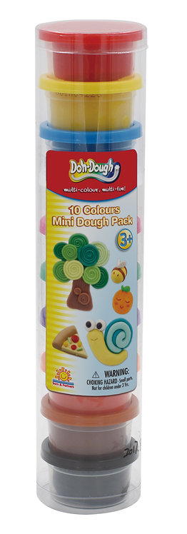 10 Colour Mini Dough Pack