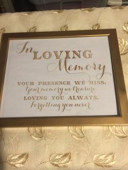 Loving Memory Sign