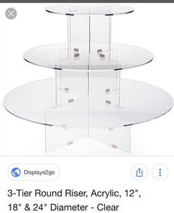 3 tiered Cupcake Dessert Stand