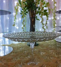 Large Glass Dessert Stand