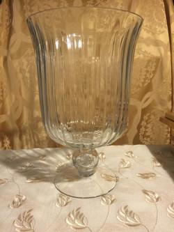 (2) Glass Hurricane Vases