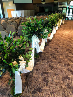 Small decor trees with satin ribbon side