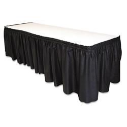 Black - 29in. x 14ft. table skirt