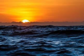 Mar de fim de tarde