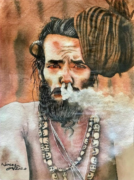 Sadhu High on Marijuana