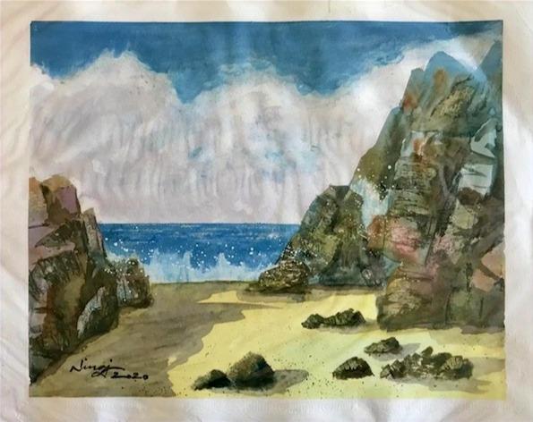 Cliffs by the Summer Beach