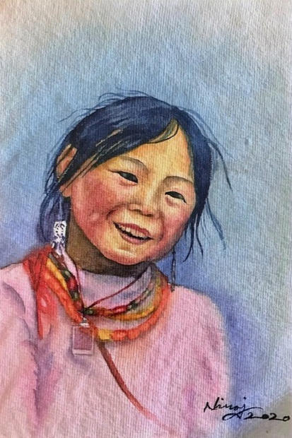 Cute Smile of Sherpa Girl
