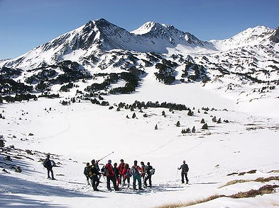 Randonnée raquette les Angles, Formiguères et Puyvalador.