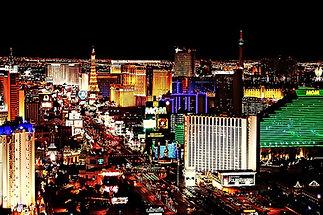 Night time skyline of the fabulous Las Vegas Strip