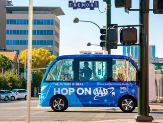 Self Driving Bus Comes To Vegas:  Update:  Bus Crashes First Hour!!