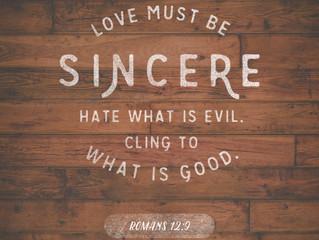 Love Without Hypocrisy Part 3 - Romans 12:9-21