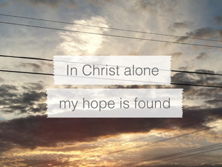 Easter 2019 - In Christ Alone!