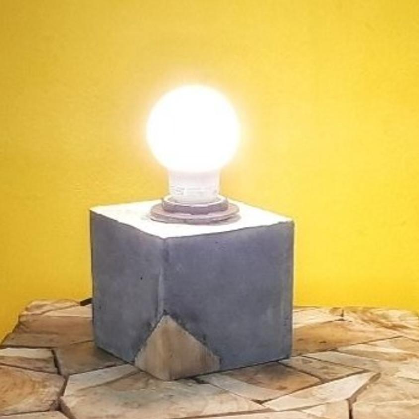 יצירת גוף תאורה מבטון