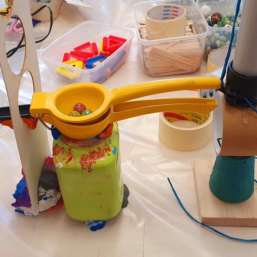 המכונה המופלאה - מכונת תגובת שרשרת (רוב גולדברג)