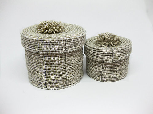 Round Shelf Baskets Set With LIds