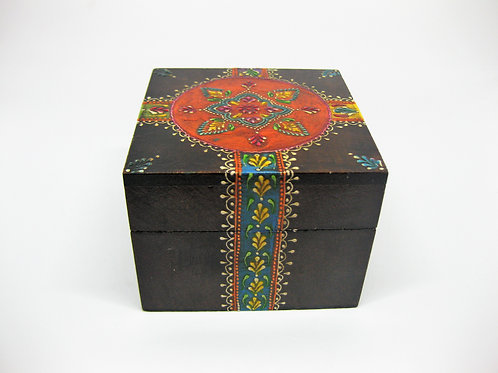 Hand Painted Wooden Keepsake Box