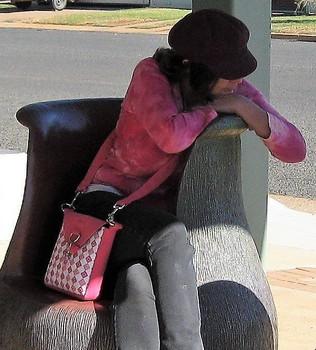 Diamond Pink Crossbody Bag