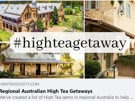 And High Tea Society Suggests....