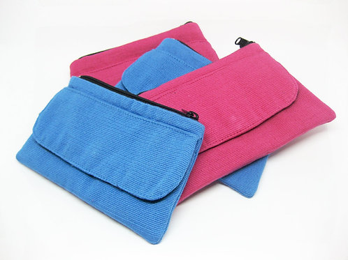 Fairtrade Coin Purses Blue And Pink