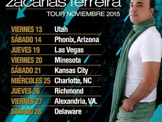 Zacarías Ferreira de gira por los Estados Unidos en noviembre.