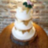 Brownie tier wedding cake