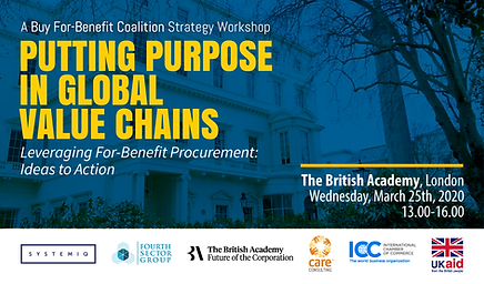 Putting Purpose in Global Value Chains