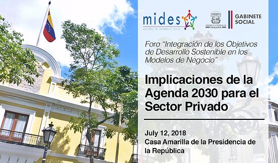 Implicaciones de la Agenda 2030 para el Sector Privado