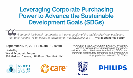 Leveraging Corporate Purchasing Power to Advance the Sustainable Development Goals (SDGs)