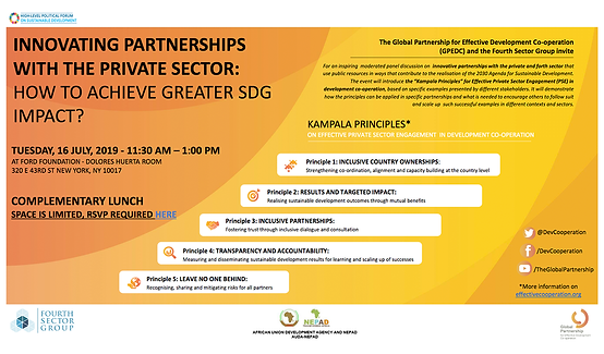 Innovating Partnerships with the Private Sector: How to Achieve Greater SDG Impact?