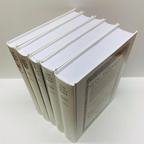 Original Douay Rheims Bible 5 Volume Set