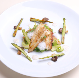 Sole / asperges / coquillages