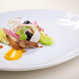 Veau / potimarron / cèpes / radis japonais