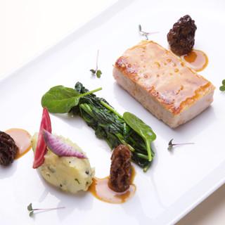 Côte de veau / épinard / jus aux morilles