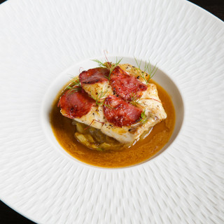 Pagre / chorizo / soupe de poisson de roche